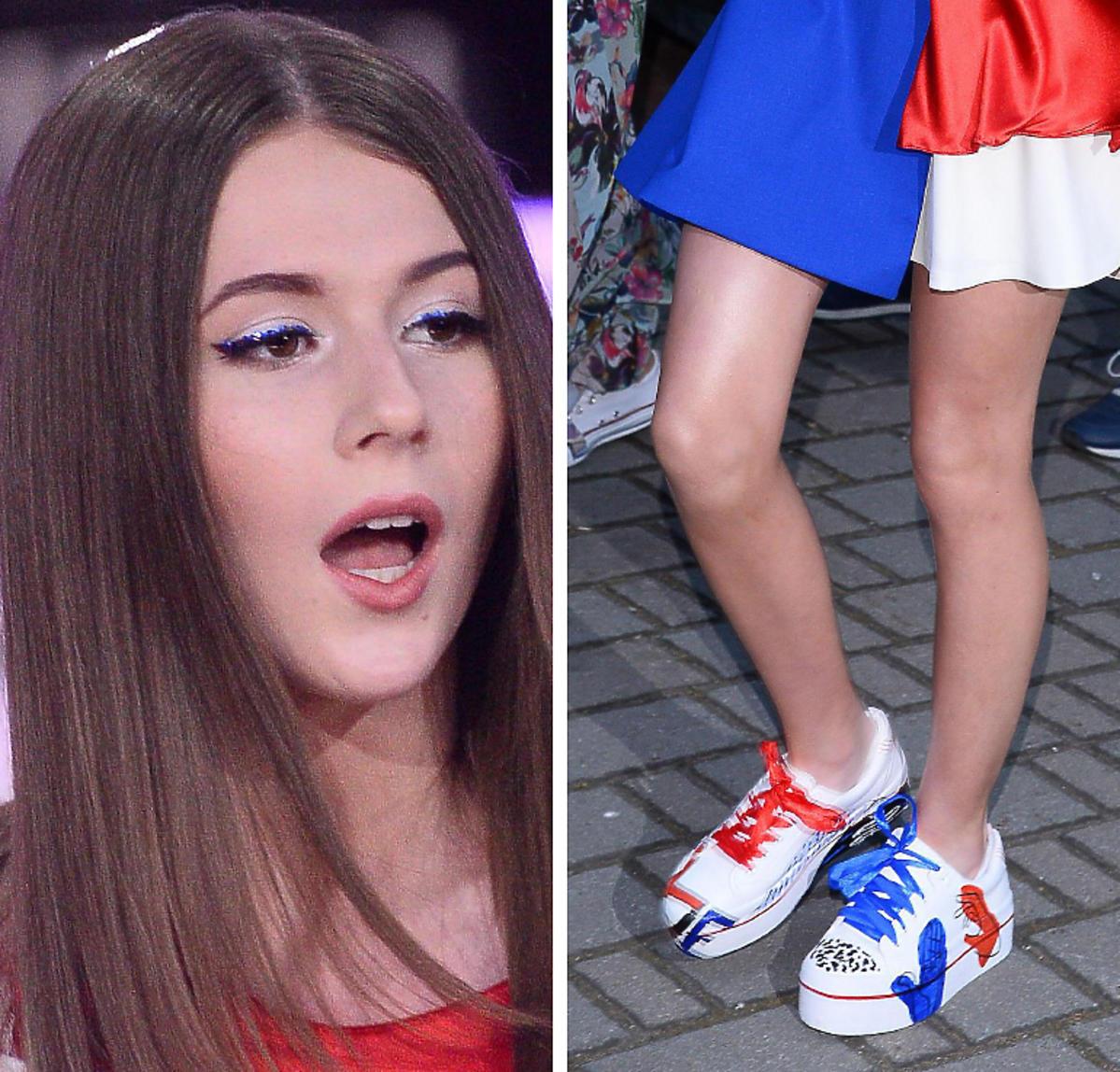Roksana Węgiel w Opolu miała mocny makijaż