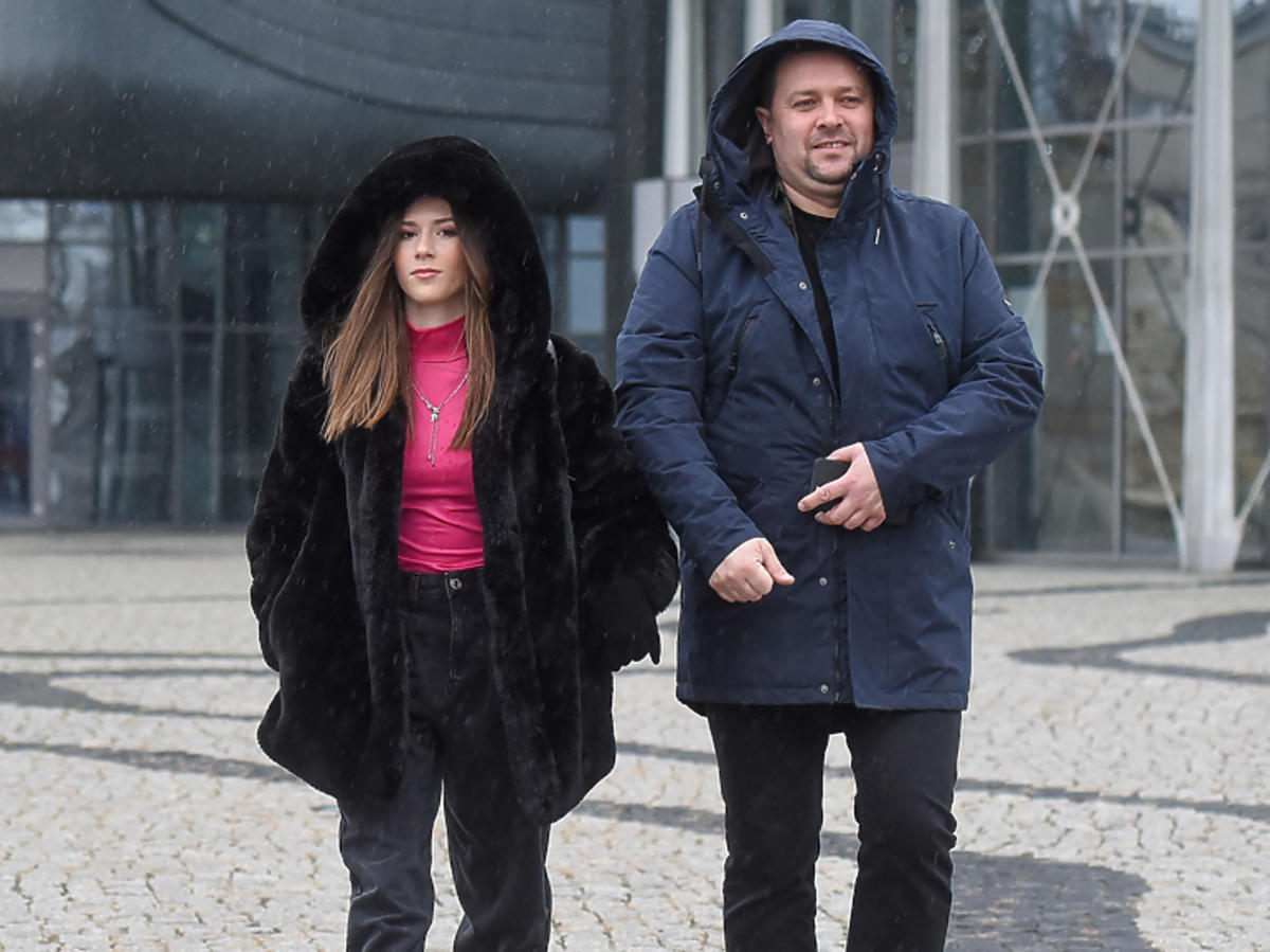 Roksana Węgiel z tatą