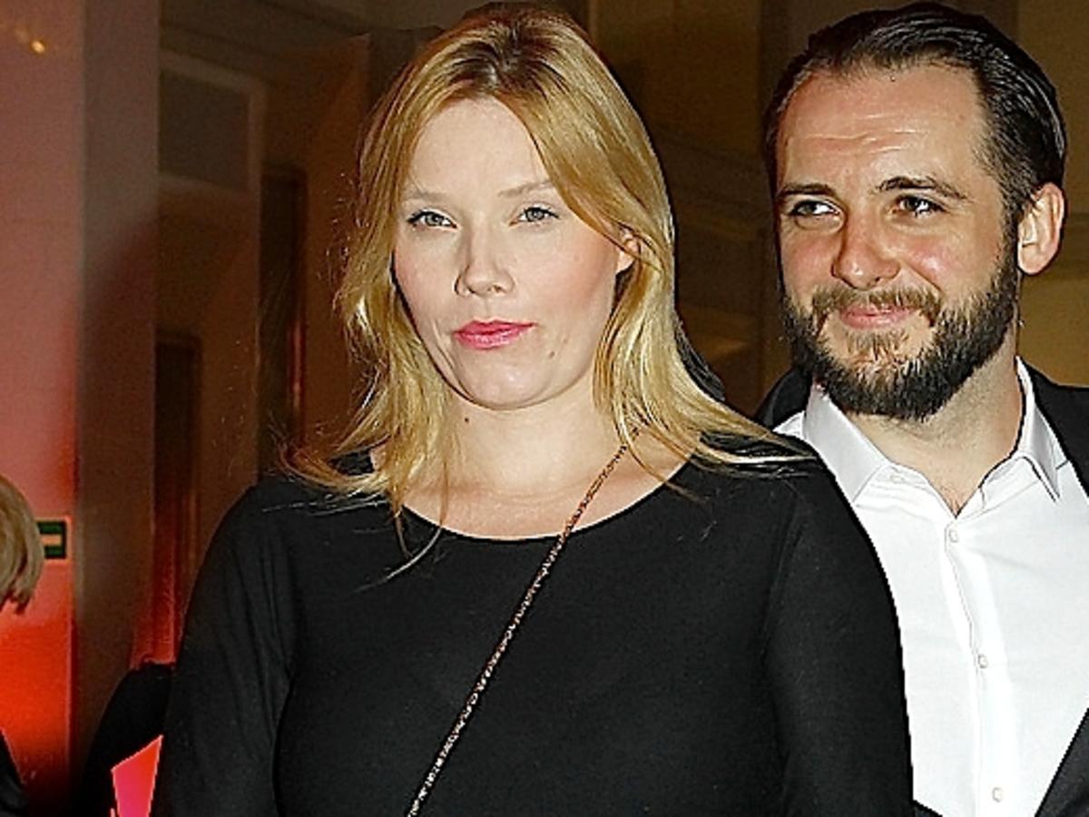 Roma Gąsiorowska w 8 miesiącu ciąży i Michał Żurawski. Roma Gąsiorowska urodziła