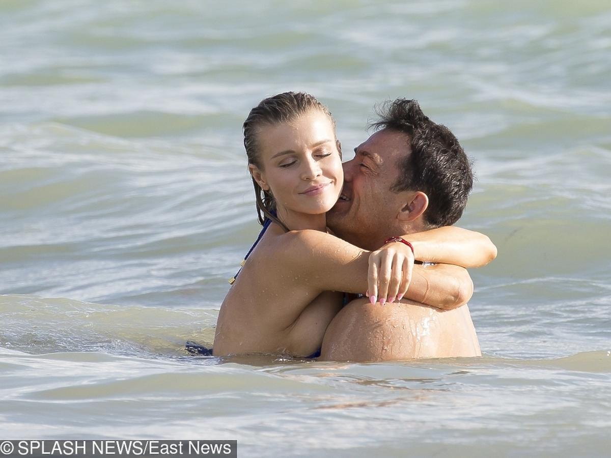 Romain Zago całuje Joannę Krupę