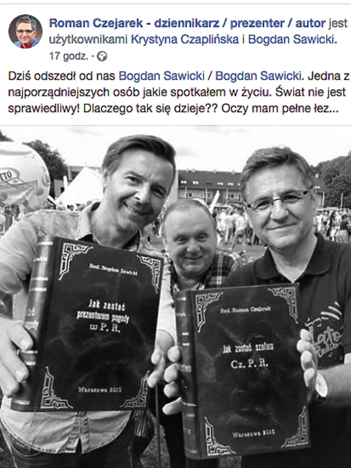 Roman Czejarek żegna Bogdana Sawickiego
