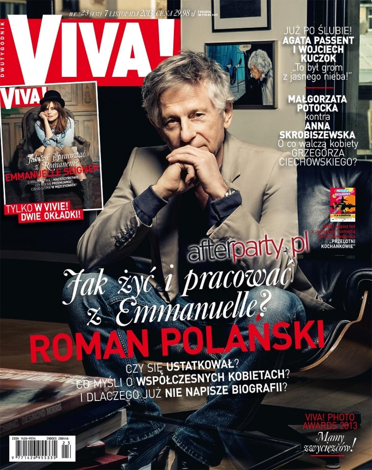 Roman Polański i Emmanuelle Seigner na okładkach Vivy