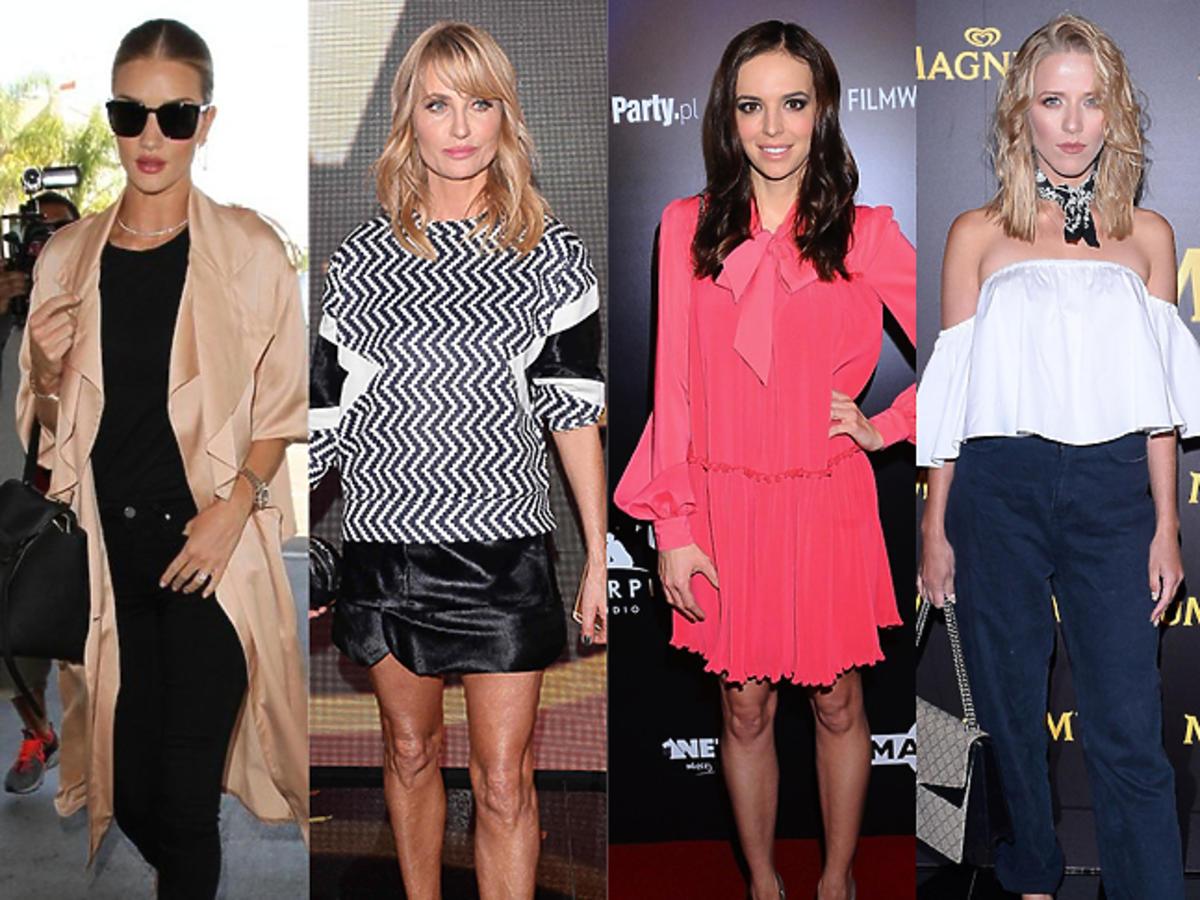 Rosie Huntington-Whiteley, Aneta Kręglicka, Anna Wendzikowska, Jessica Mercedes, Alessandra Ambrosio w świetnych stylizacjach