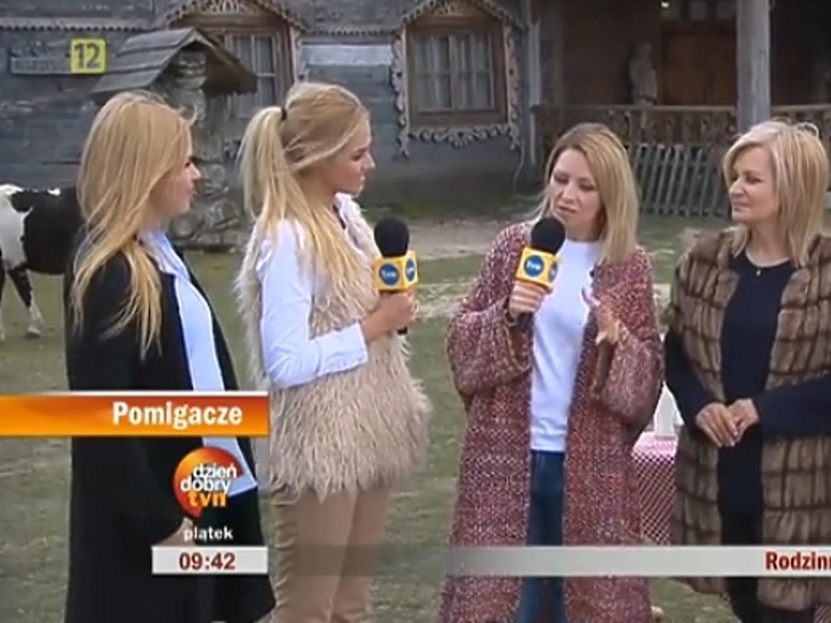 Rozal ia Macewicz z siostrami w Dzień Dobry TVN