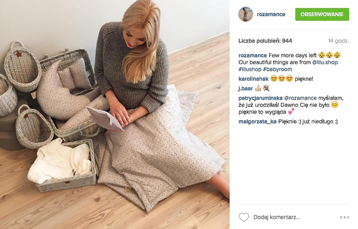 Rozalia Mancewicz kilka dni przed porodem