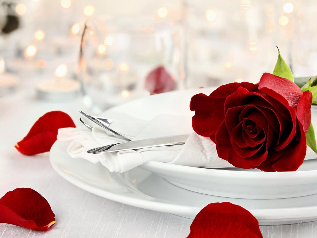 Róże na talerzu