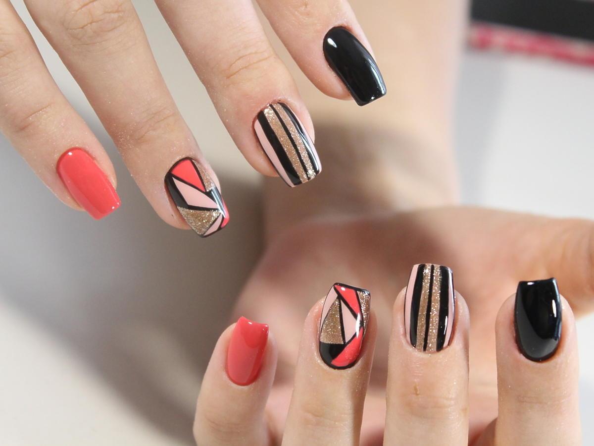 różne rodzaje paznokci