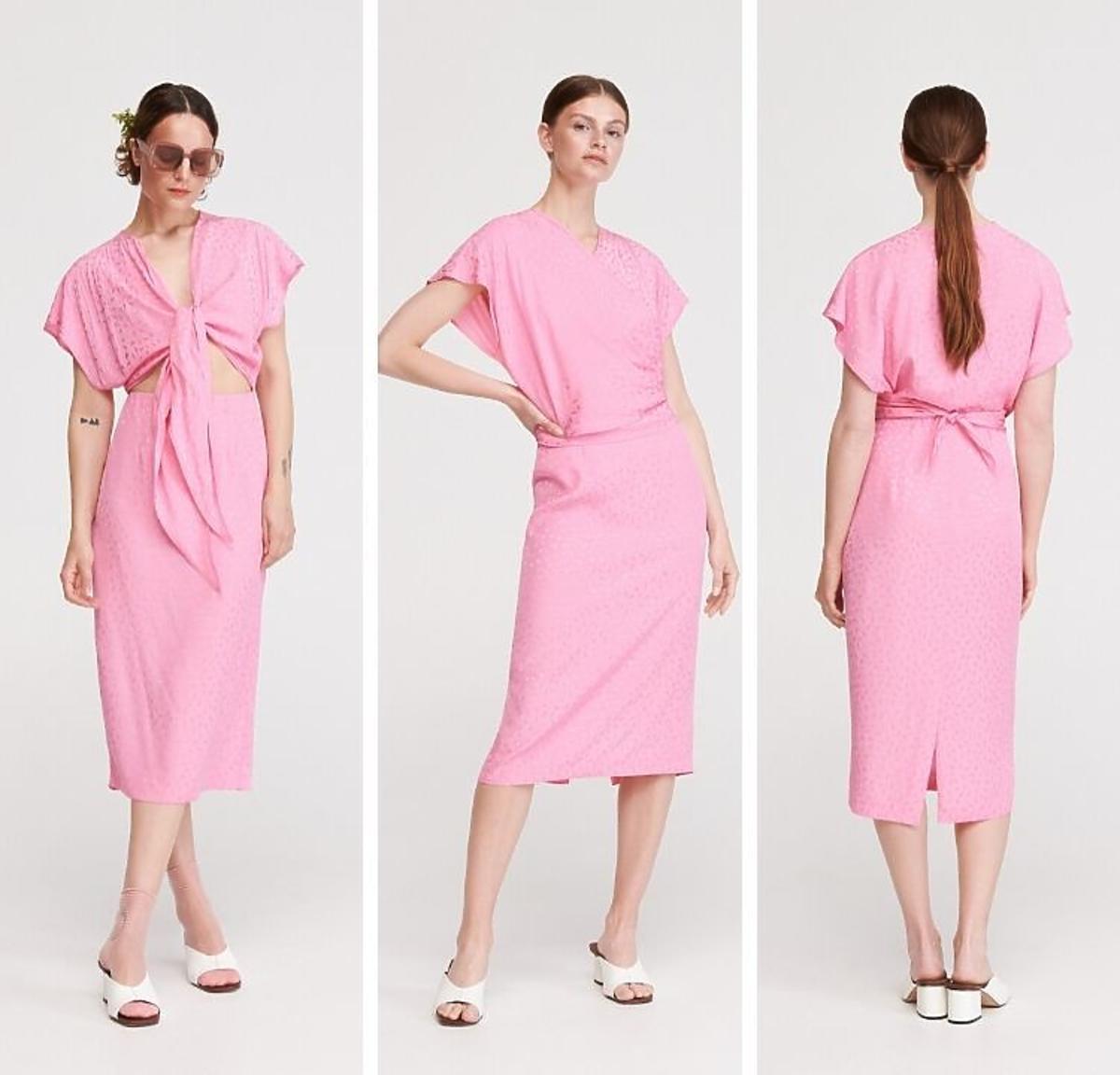 Różowa sukienka wyprzedaż Reserved