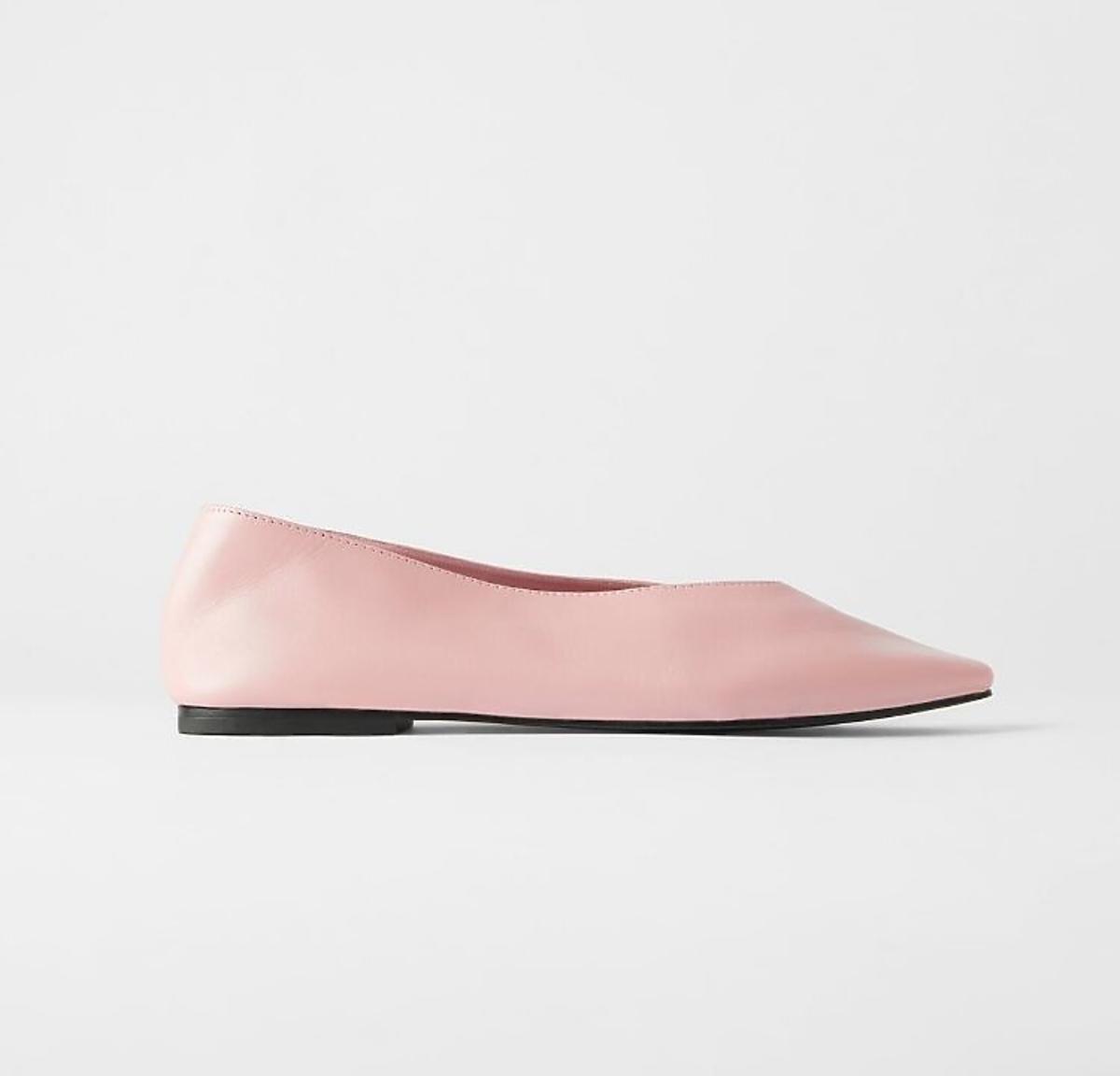 Różowe balerinki wyprzedaż Zara