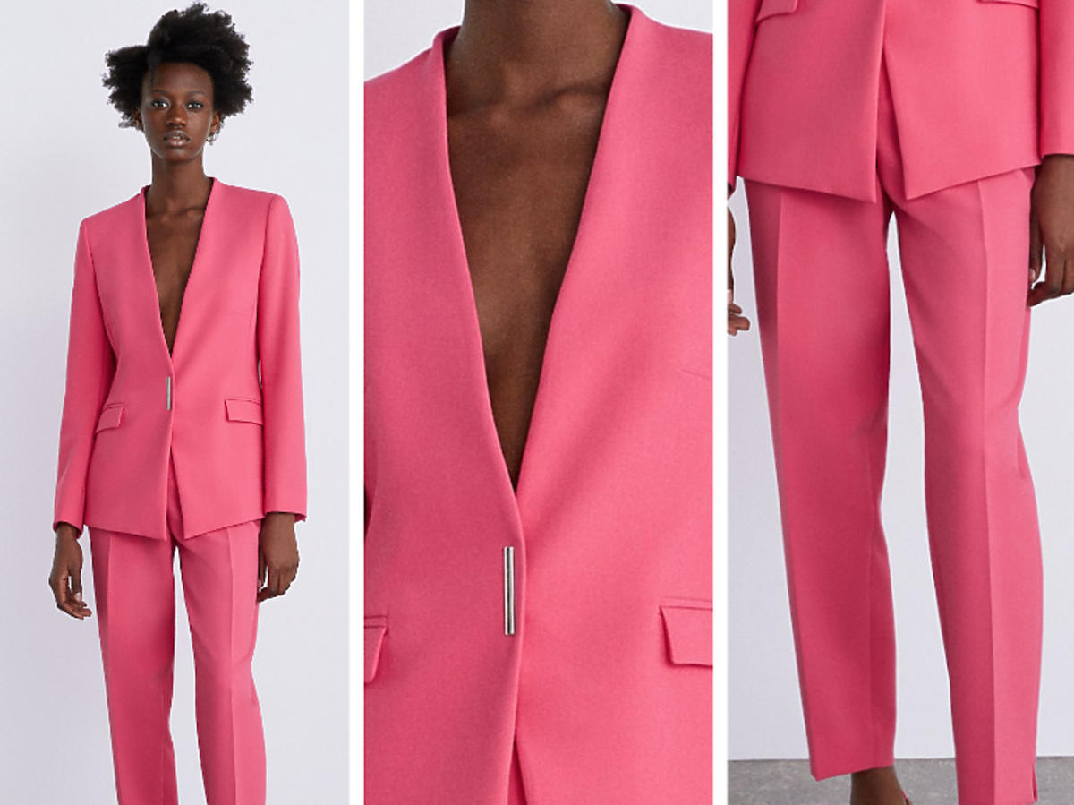 różowy garnitur Zara