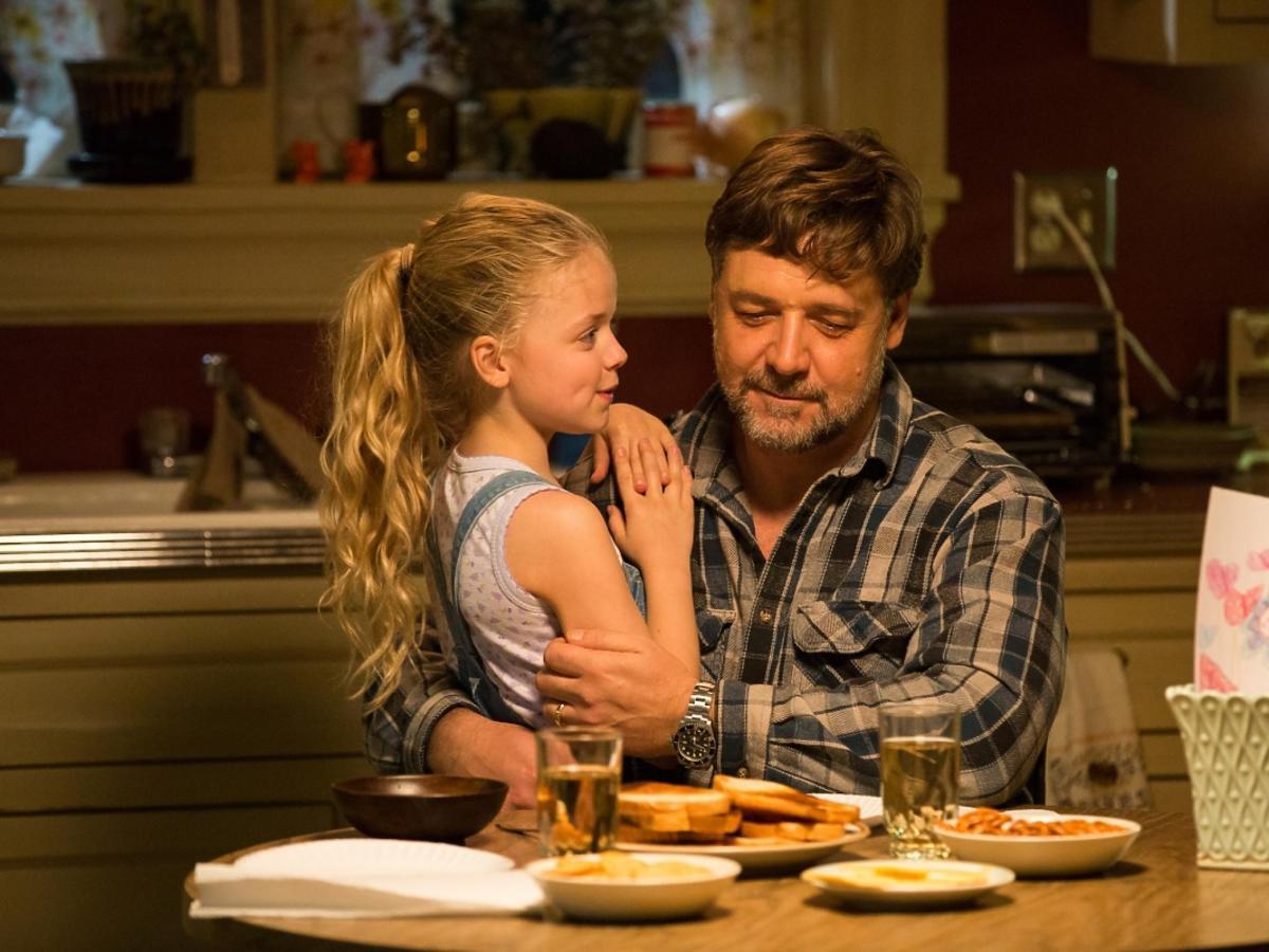 Russell Crowe ze swoją filmową córeczką