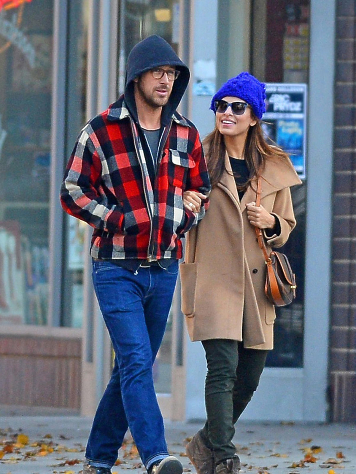 Ryan Gosling i Eva Mendes w Nowym Jorku