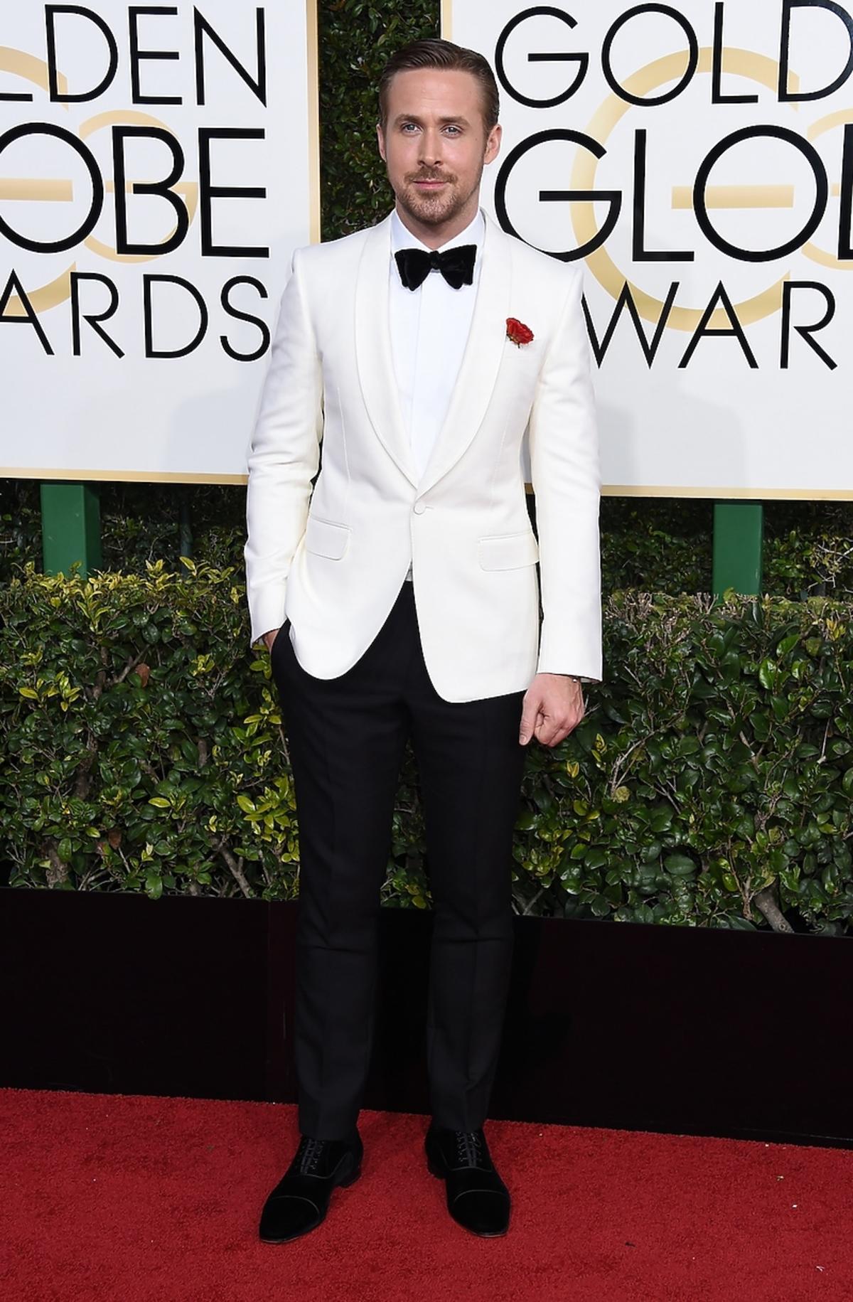 Ryan Gosling na rozdaniu Złotych Globów 2017
