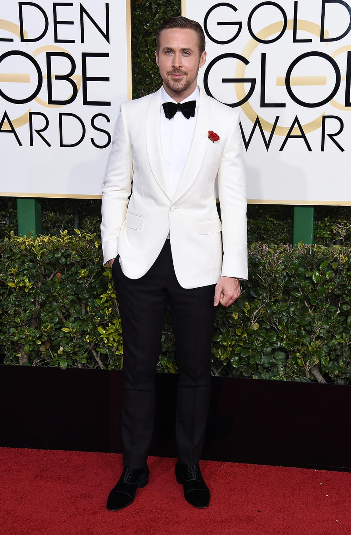 Ryan Gosling na rozdaniu Złotych Globów