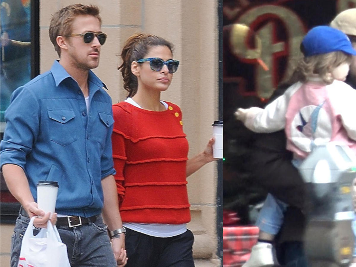 Ryan Gosling z córką Esmeraldą