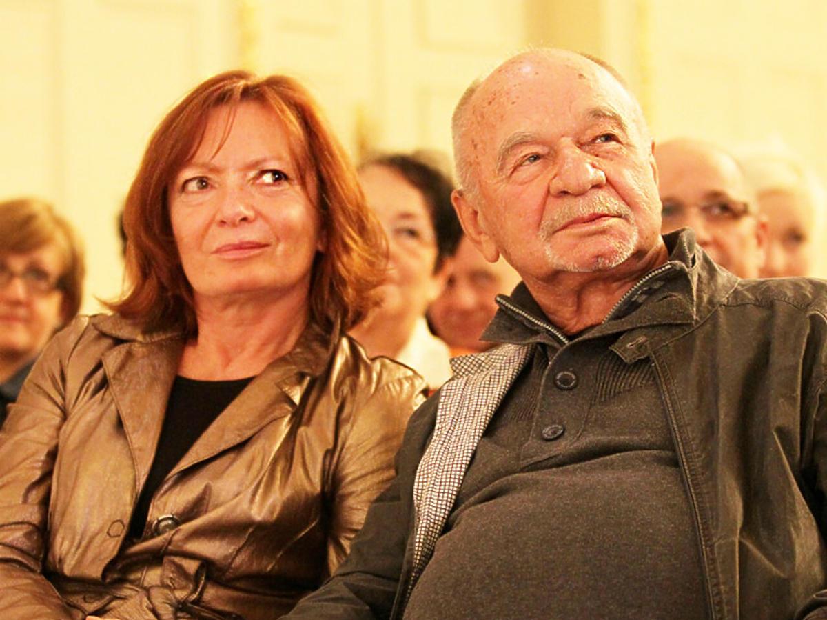 Ryszard Kotys i Kamila Sammler, żona