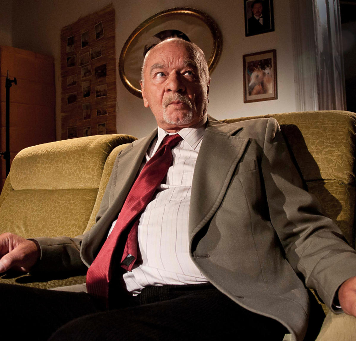 Ryszard Kotys na planie serialu