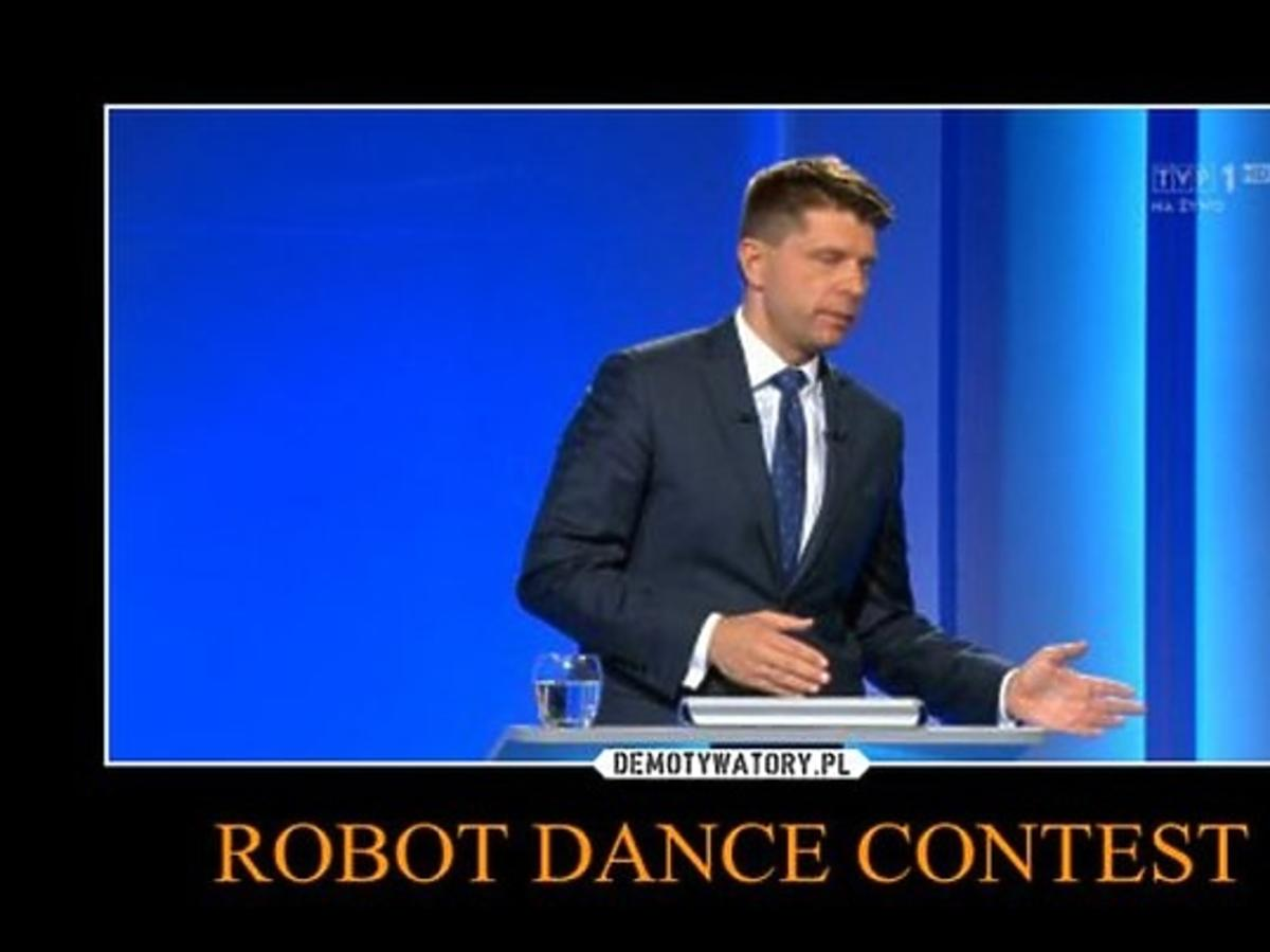 Ryszard Petru podczas debaty przedwyborczej