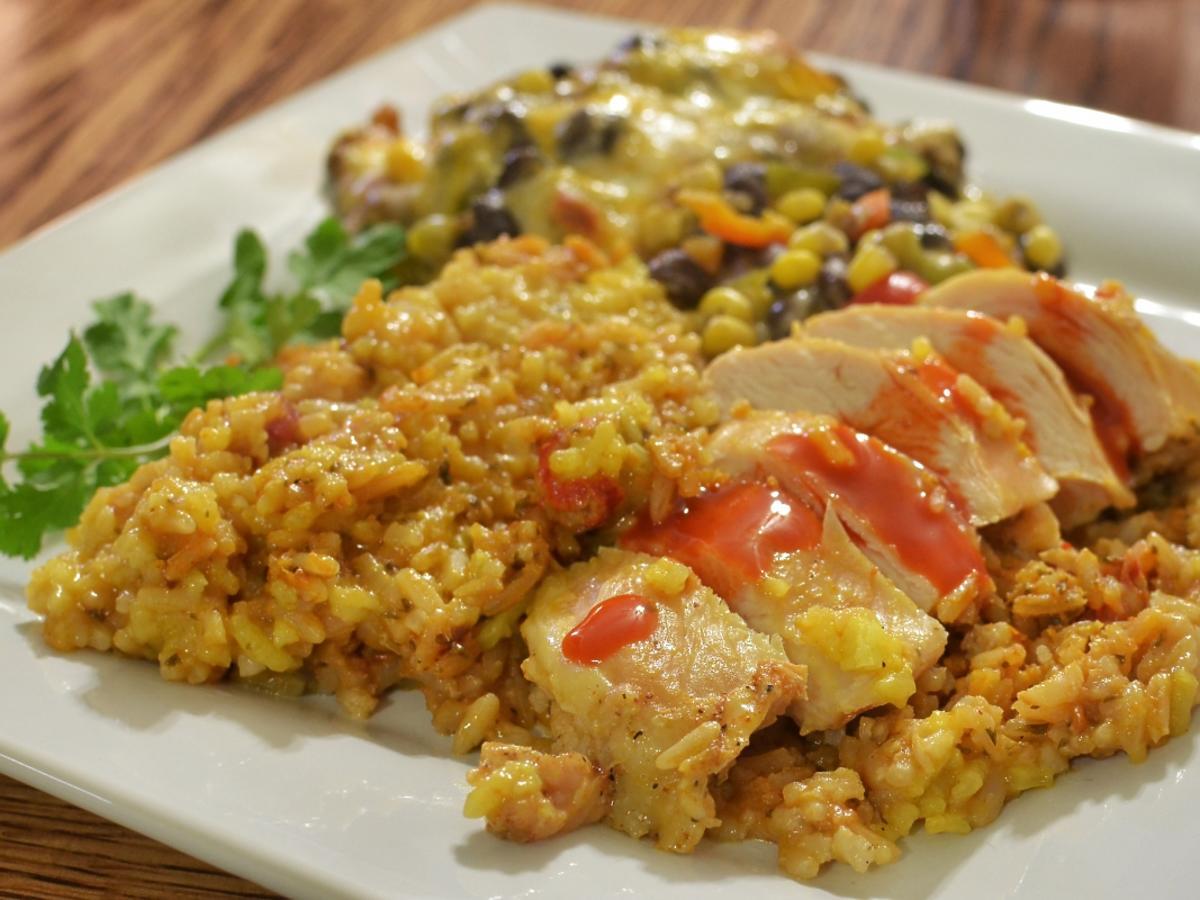 ryż i mięso