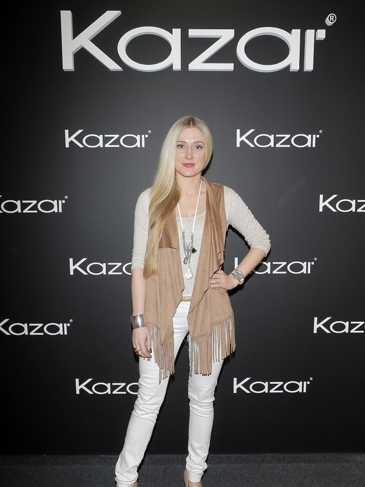 Sabina SaGo na prezentacji butów Kazar