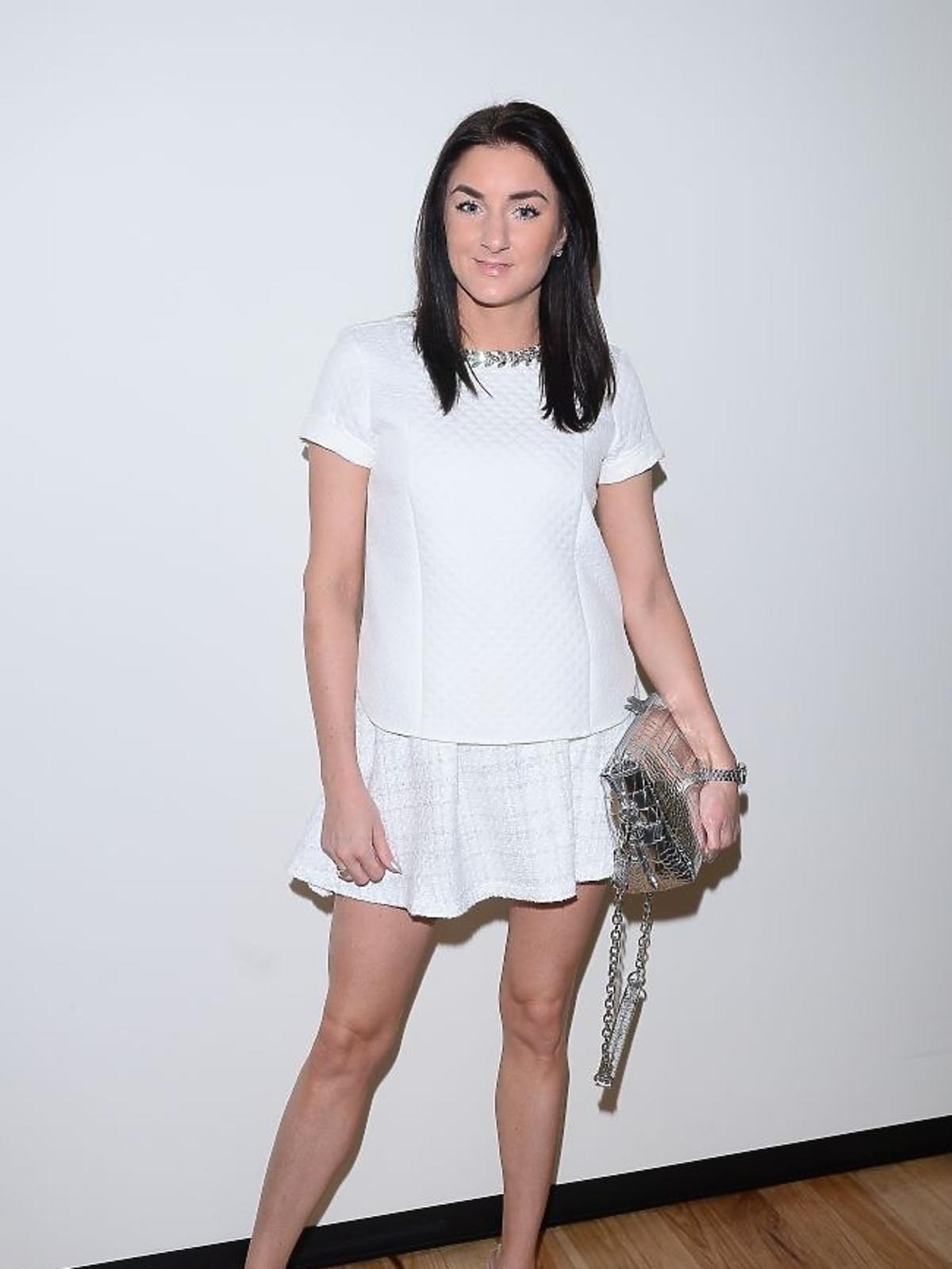 Sabrina Pilewicz na prezentacji sukienek Pauliny Krupińskiej na Miss Universe 2013