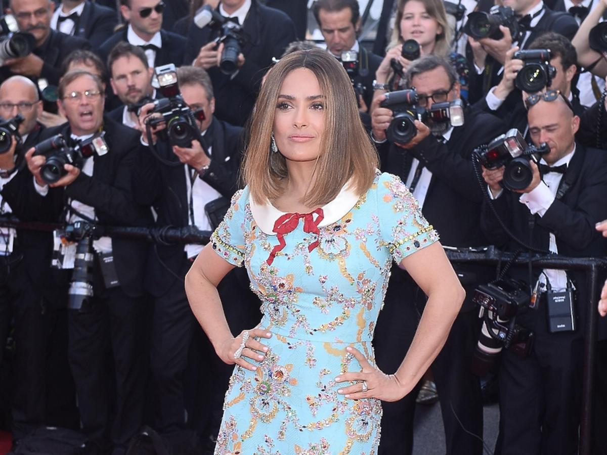 Salma Hayek w sukni Gucci
