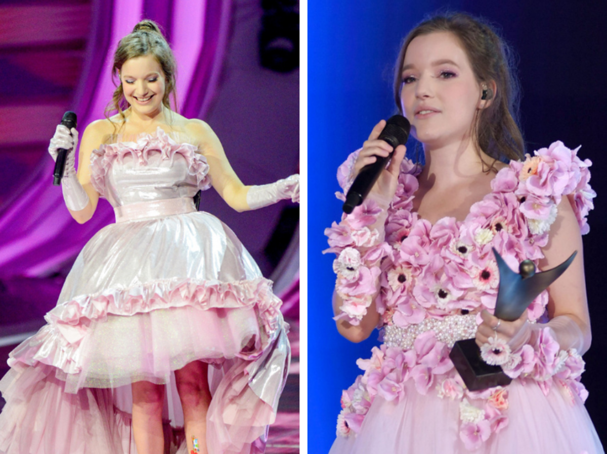 Sanah w różowych sukienkach