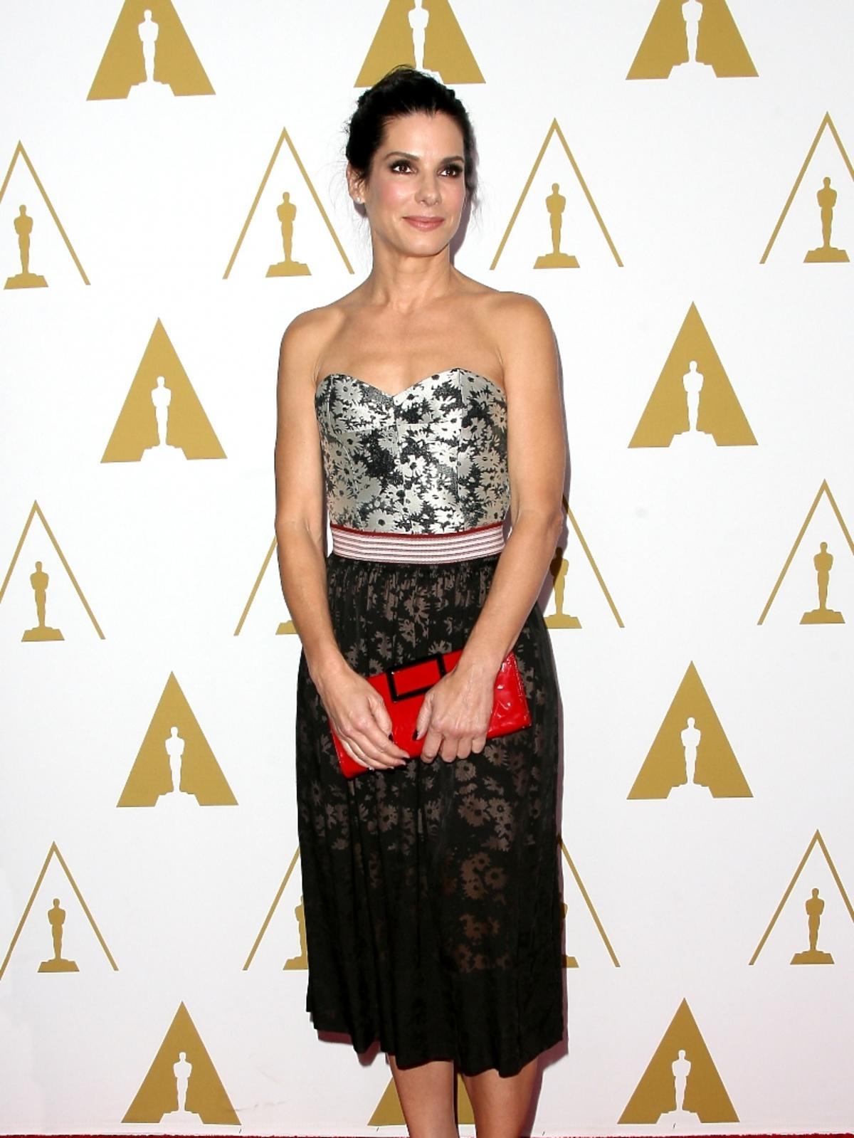 Sandra Bullock podczas konferencji prasowej nominacji do Oscarów 2014