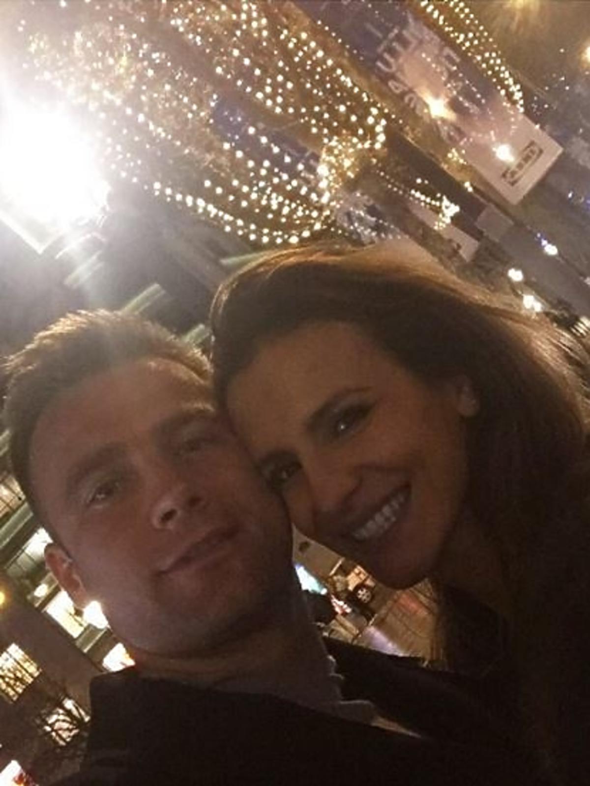 Sara Boruc i Artur Boruc na ulicy w Paryżu
