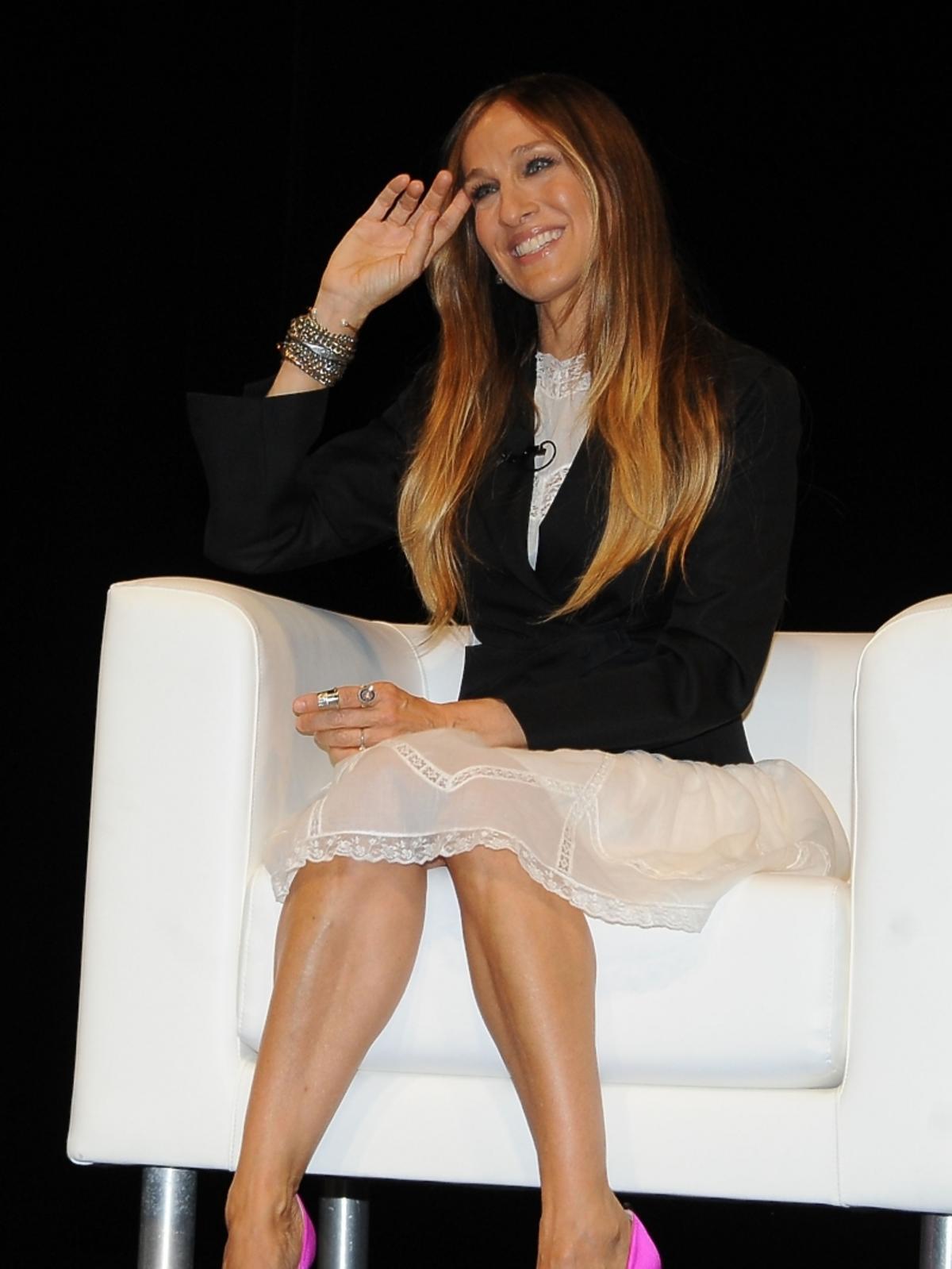 Sarah Jessica Parker na konferencji prasowej w Cannes
