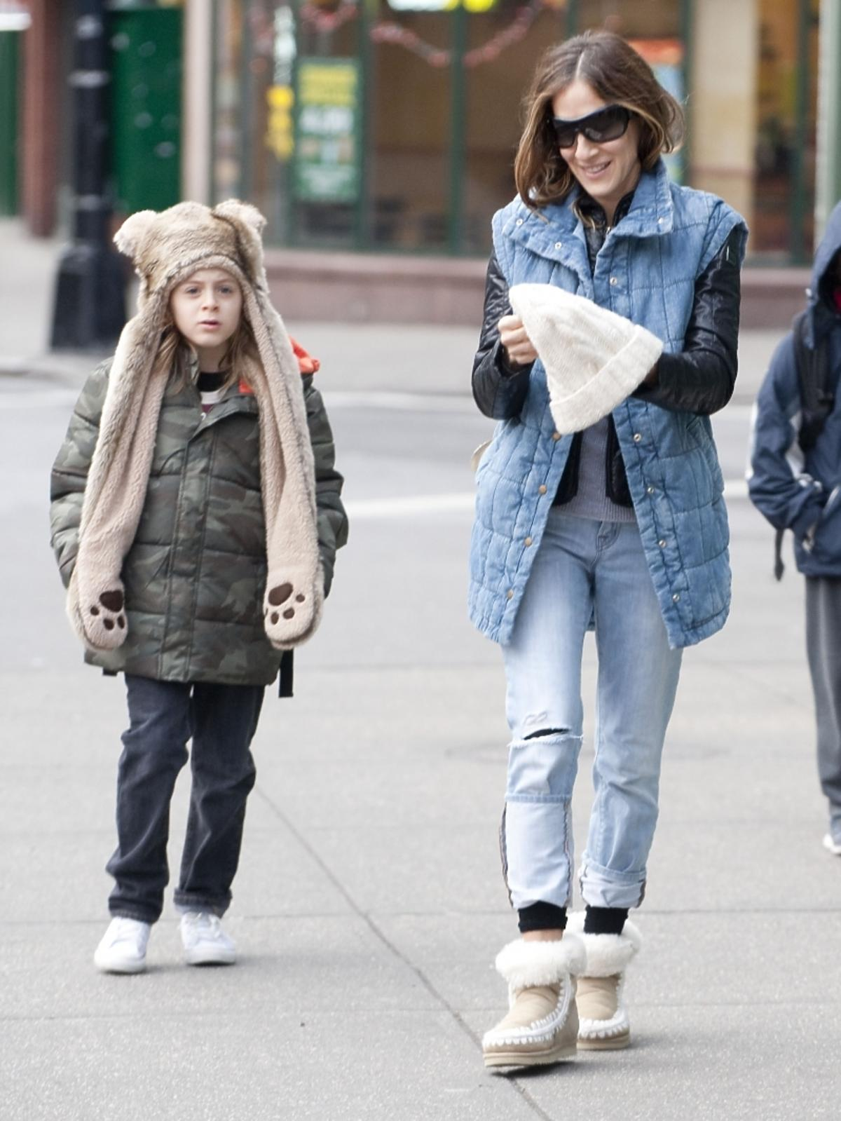 Sarah Jessica Parker z synem na ulicach Nowego Jorku