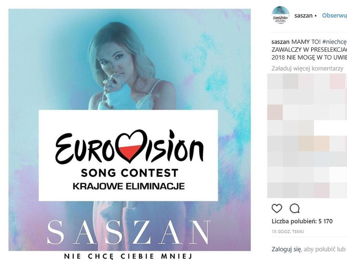 Saszan- ma szansę wygrać krajowe eliminacje do Eurowizji?