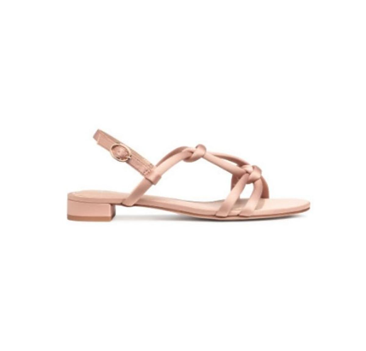 Satynowe sandały H&M wyprzedaż