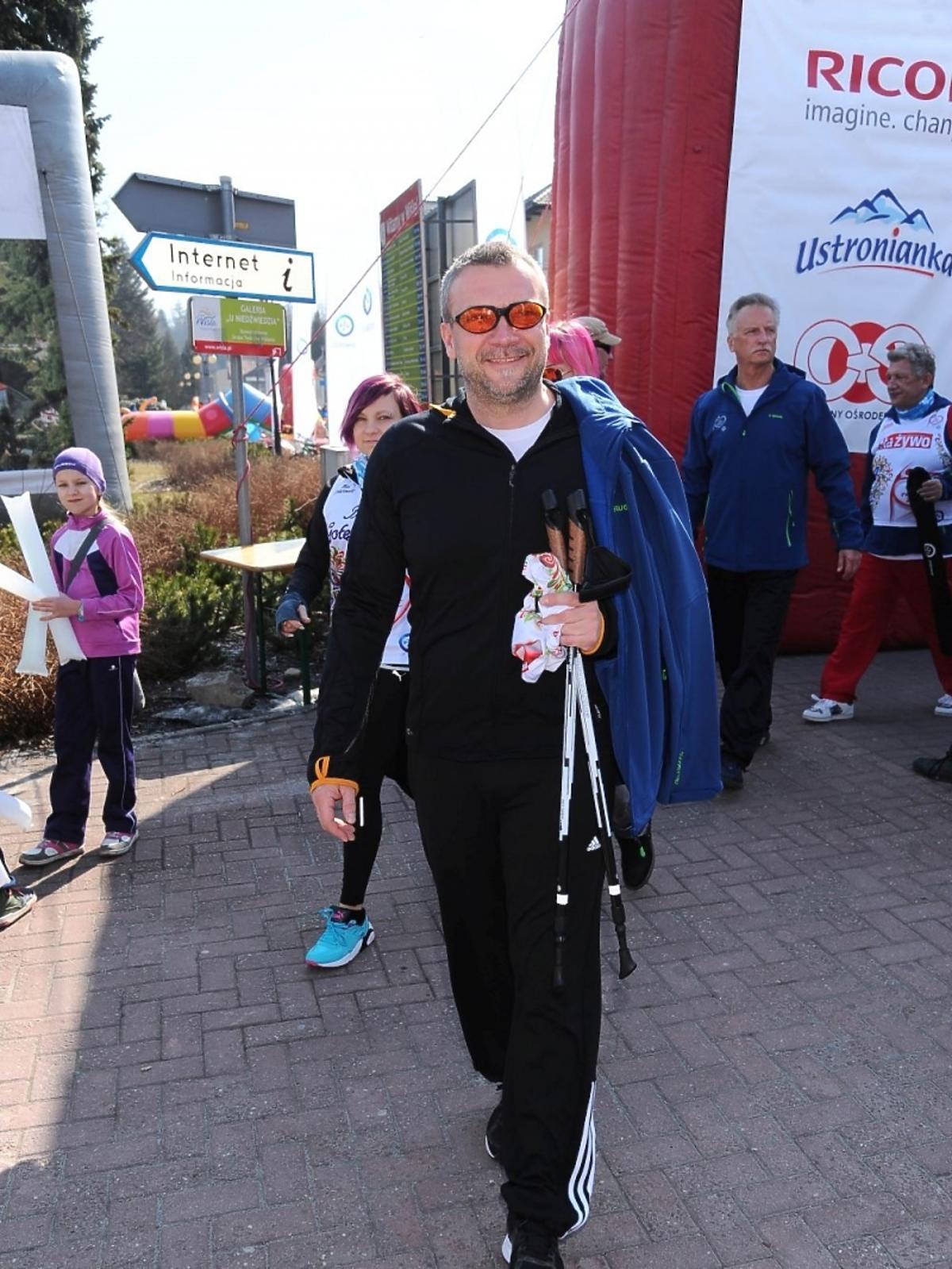 Sebastian Wątroba na charytatywnym biegu
