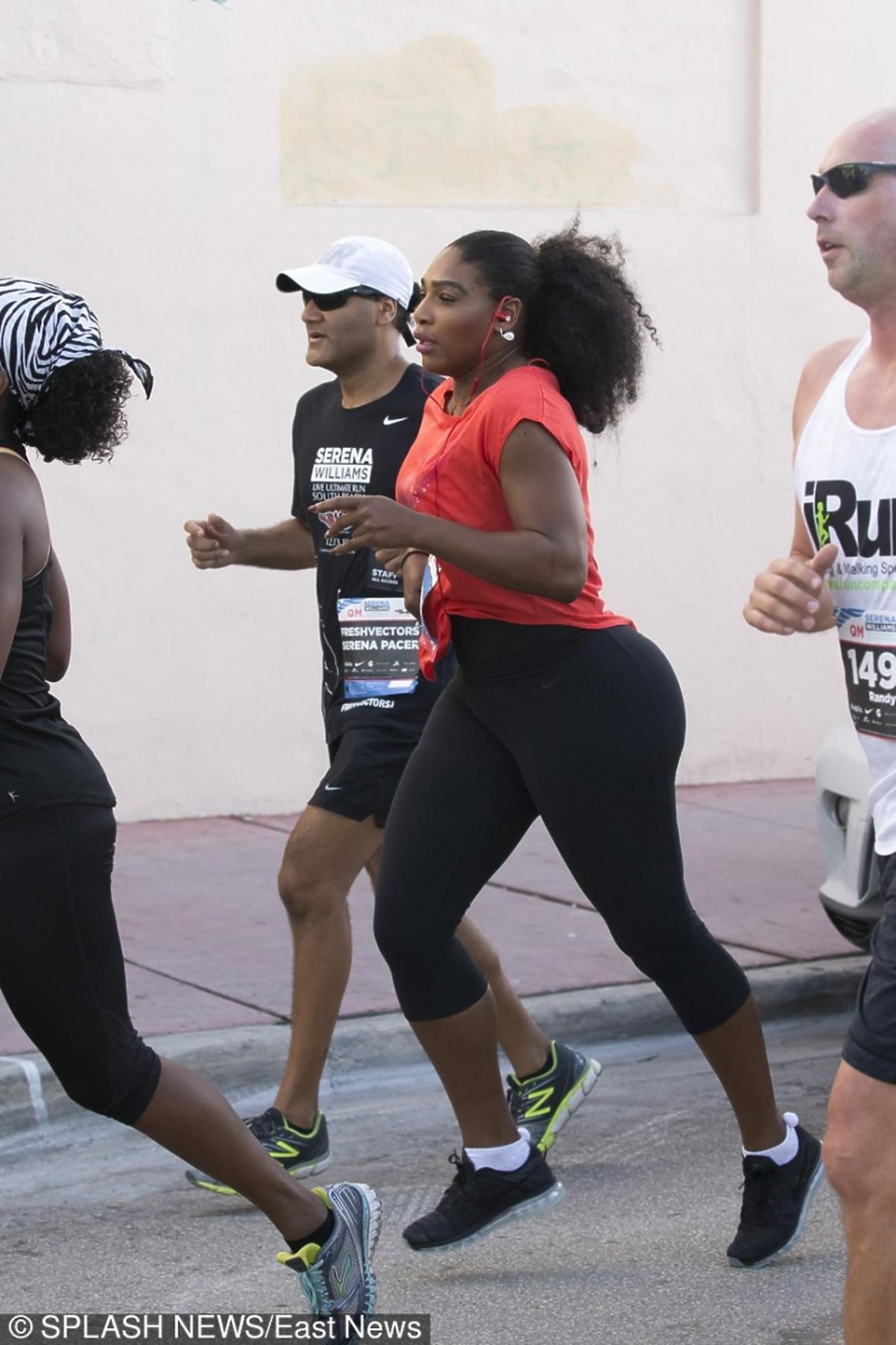 Serena Williams podczas charytatywnego biegu