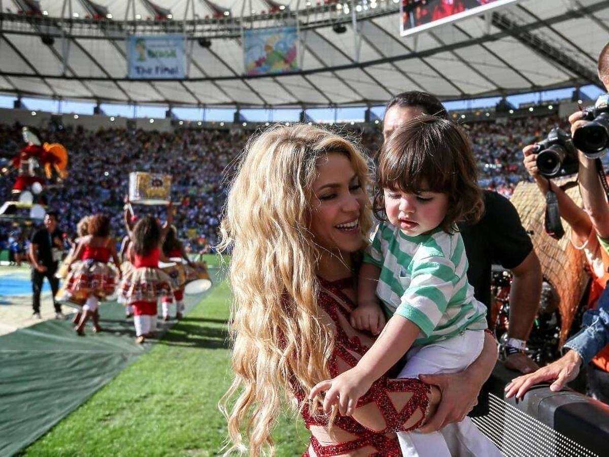 Shakira na Mundialu 2014. Shakira z synem na Mundialu 2014. Syn Shakiry