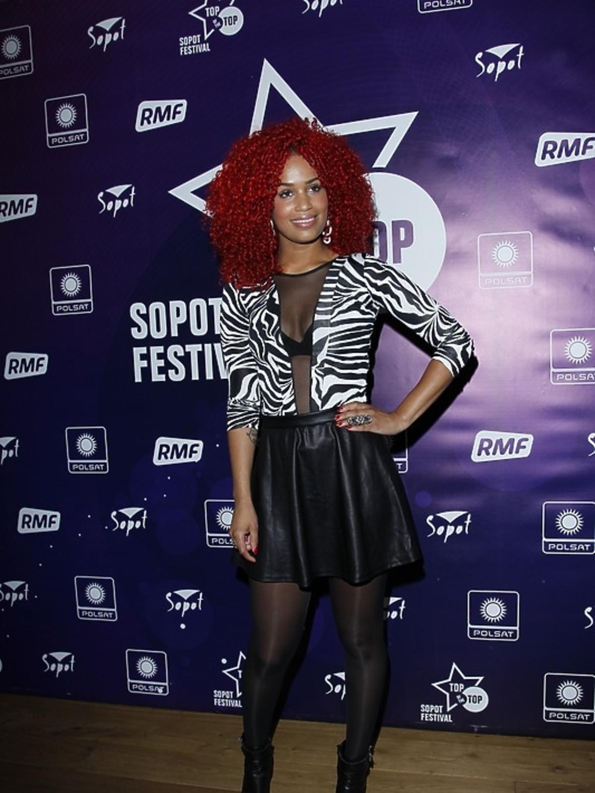 Sharon Doorson podczas konferencji Sopot Top of the Top Festival 2013