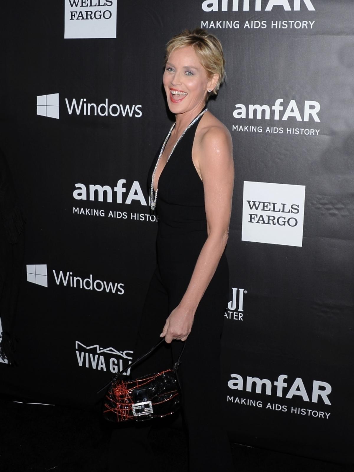 Sharon Stone na amfAR LA Inspiration Gala 2014