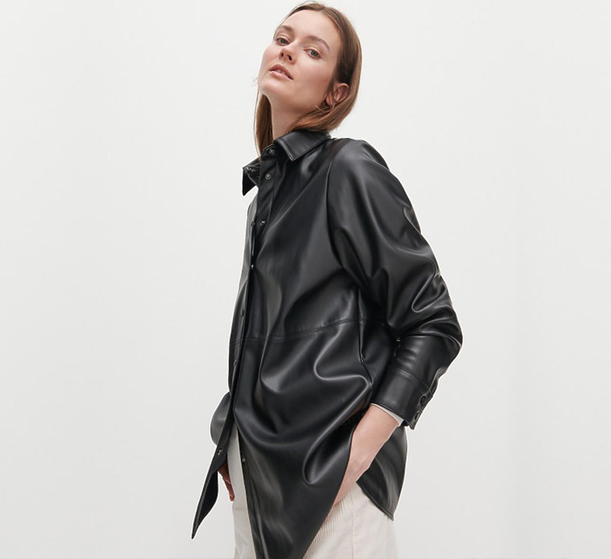 Skórzana czarna koszula Reserved, 79,99 zł