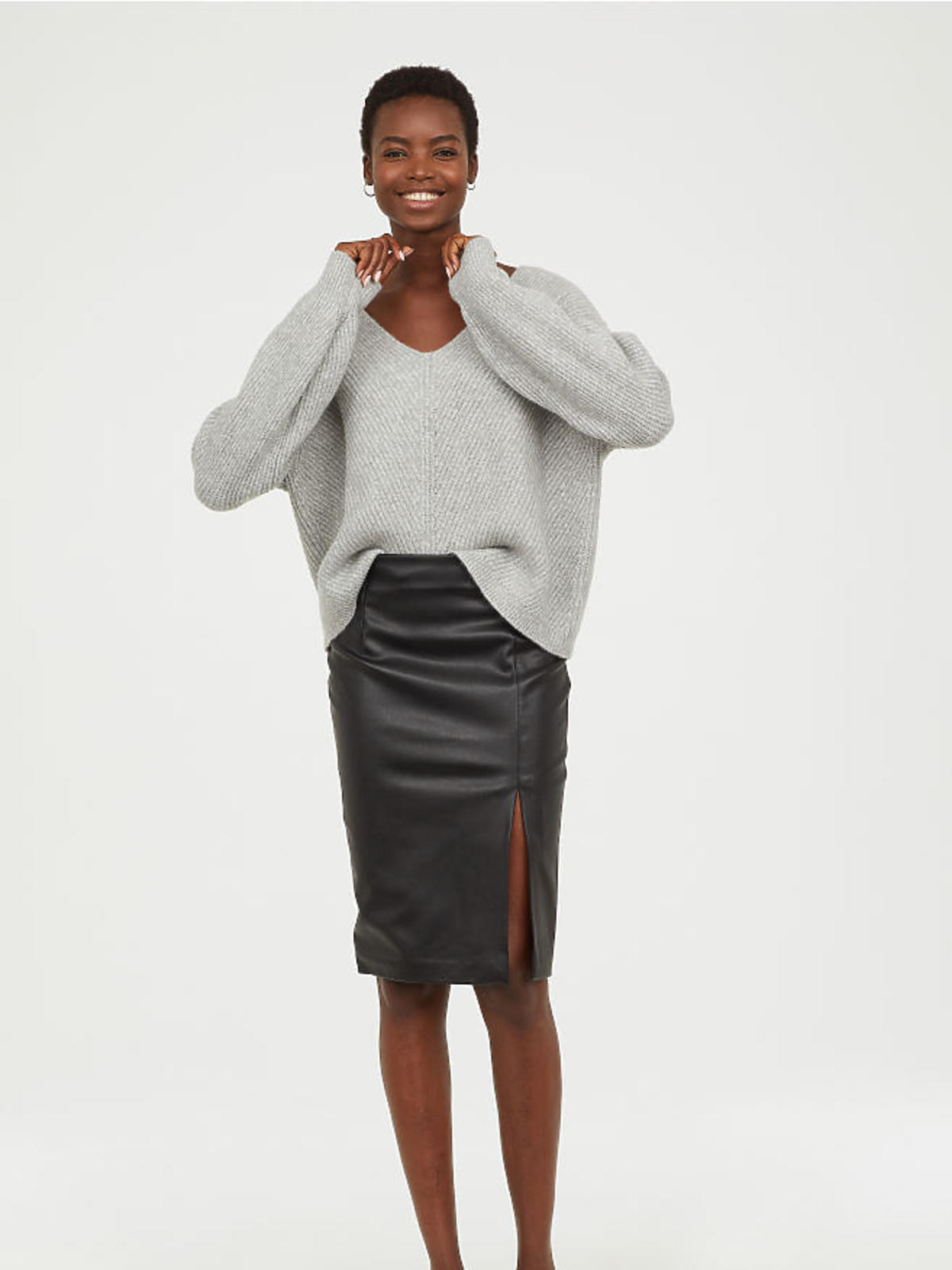 Skórzana spódnica H&M cena 99 zł