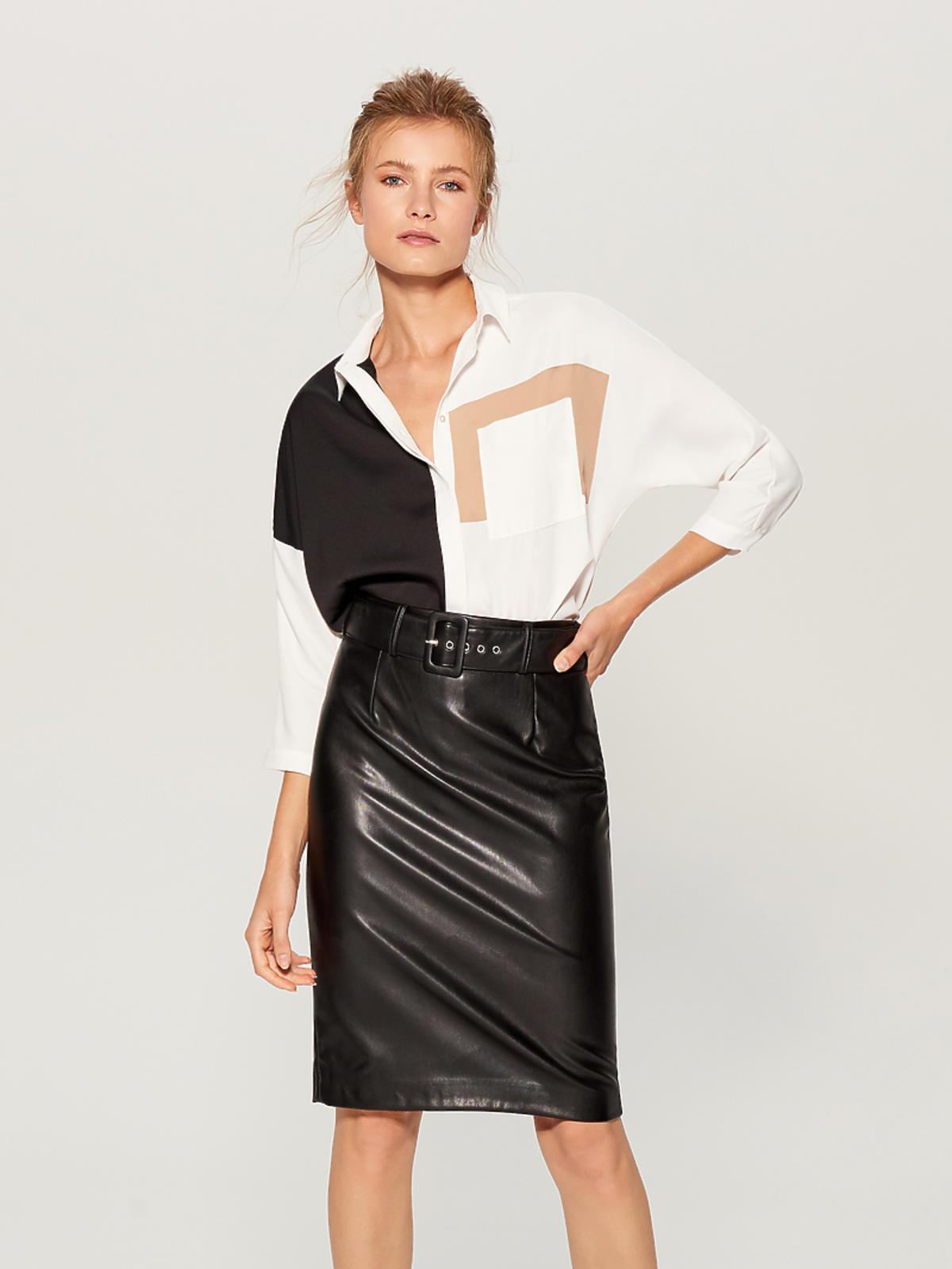 Skórzana spódnica Mohito cena 99 zł