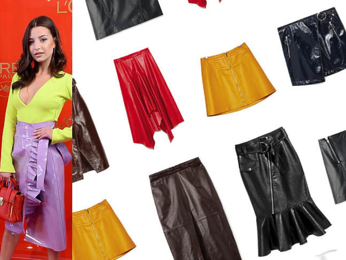 Skórzane spódnice z sieciówek