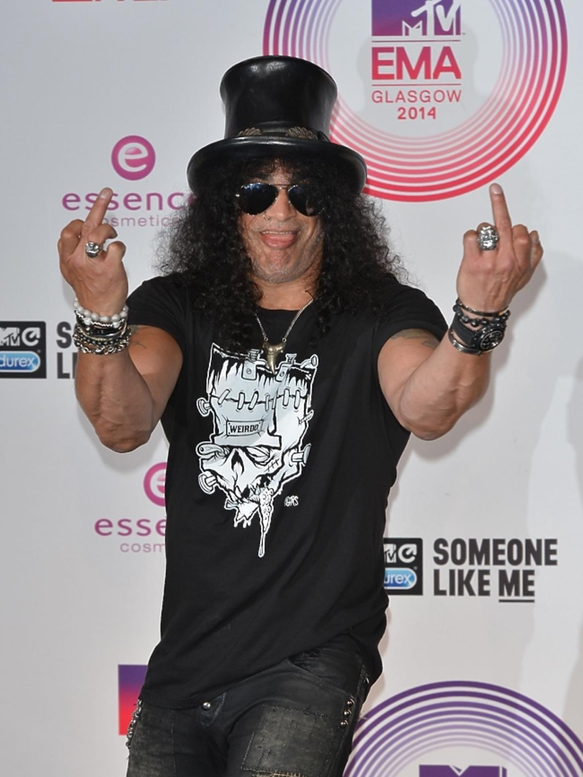 Slash na MTV EMA 2014 w Glasgow