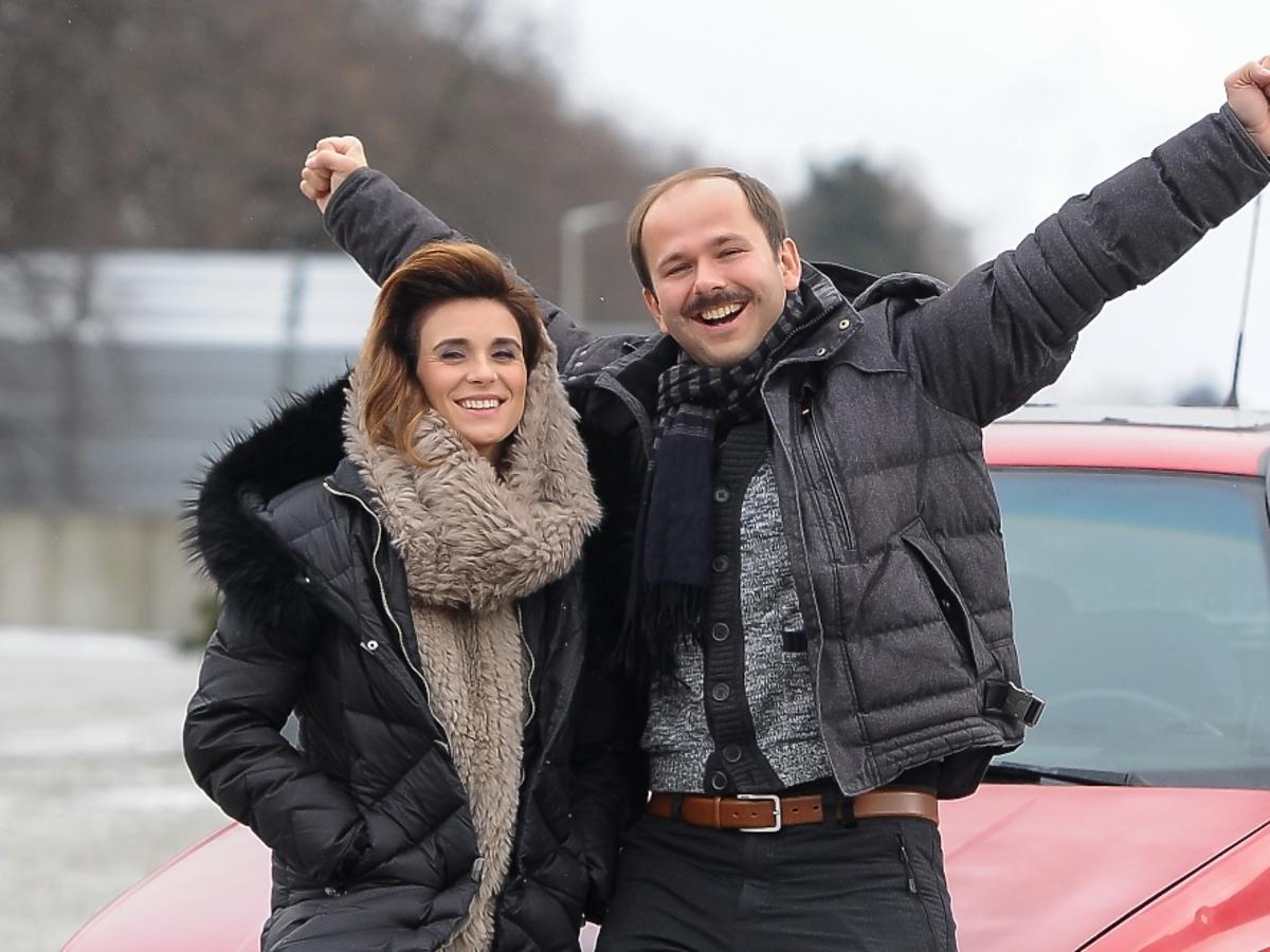 Sławomir i Kajra pod studiem TVP