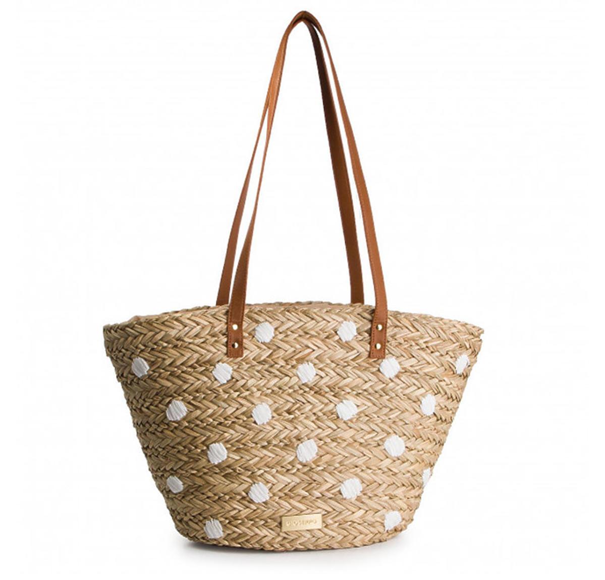 Słomiana torebka marki Gioseppo