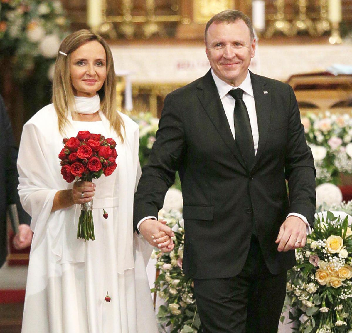Ślub Jacka Kurskiego i Joanny Klimek w Sanktuarium Bożego Miłosierdzia w krakowskich Łagiewnikach