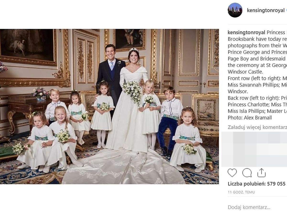 ślub księżniczki Eugenii- oficjalne zdjęcia opublikowane przez pałac Kensington