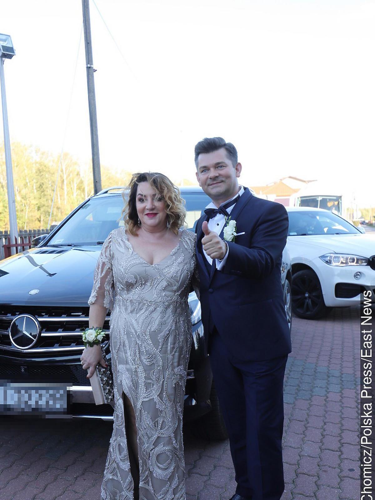 Ślub syna Zenka Martyniuka - Zenek Martyniuk z żoną