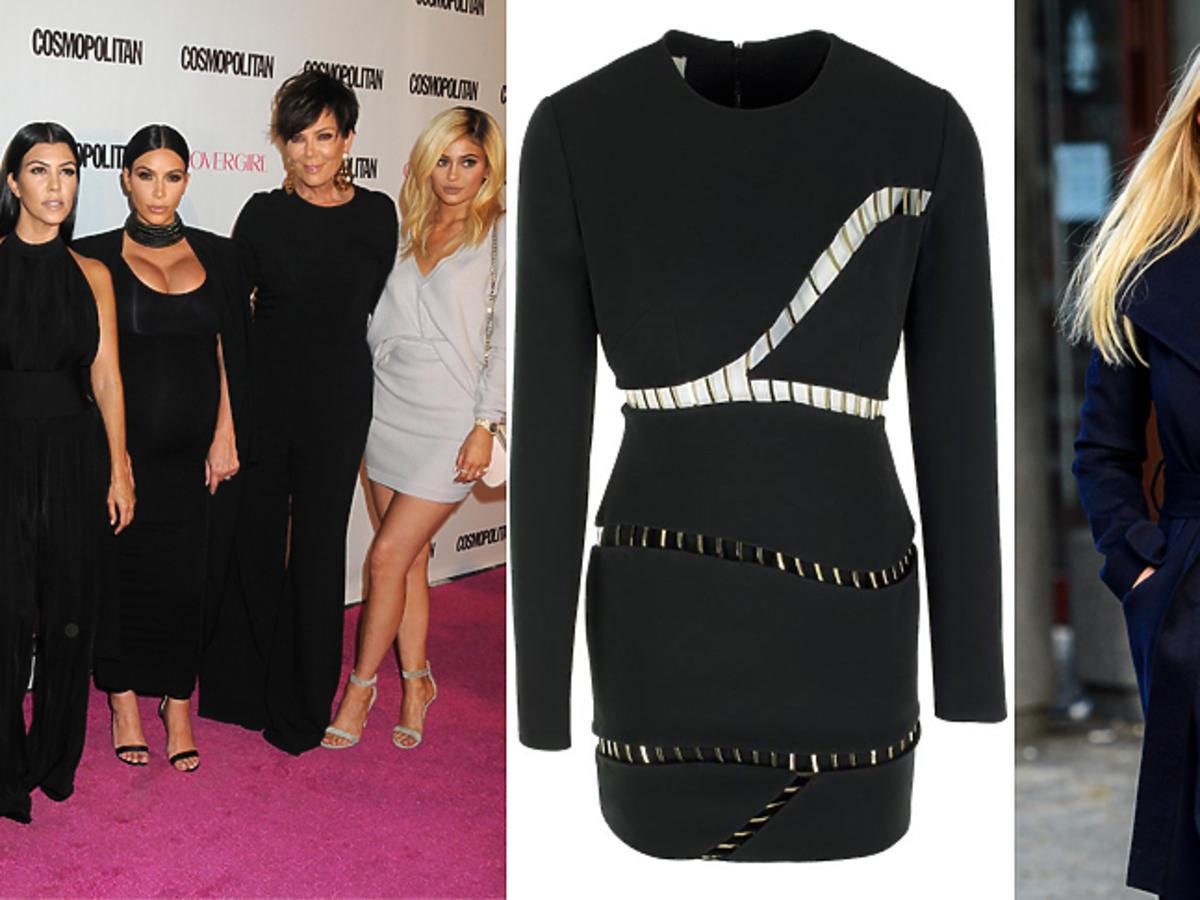 Słynna Kardashianka w sukience la Mania