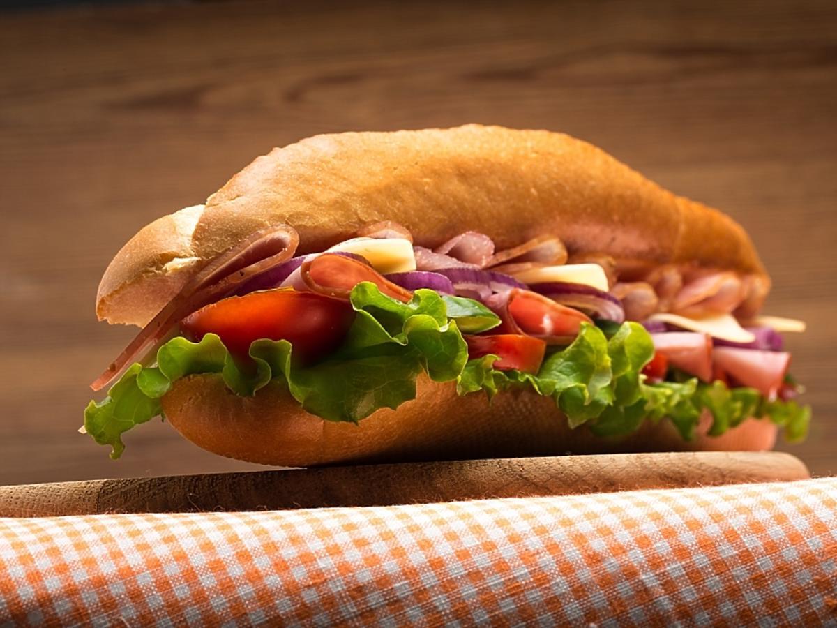 smaczny hamburger